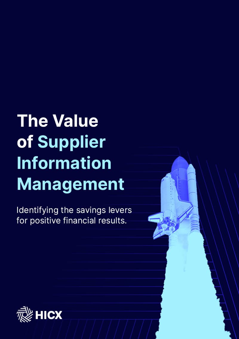 The Value of Supplier Information Management