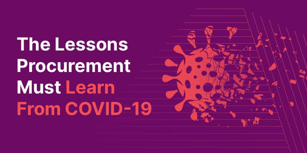 The Lessons Procurement Must Learn From COVID-19