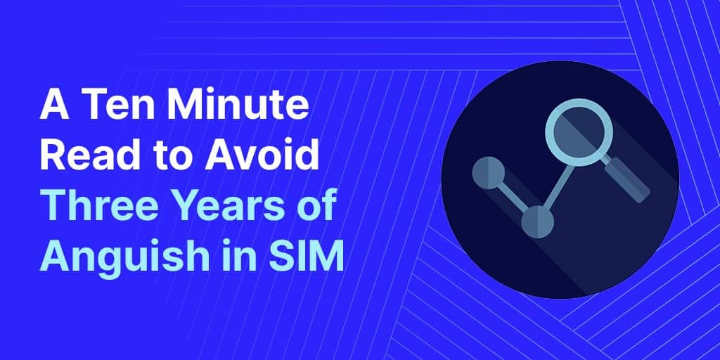 A ten minute read to avoid three years of anguish in Supplier Information Management