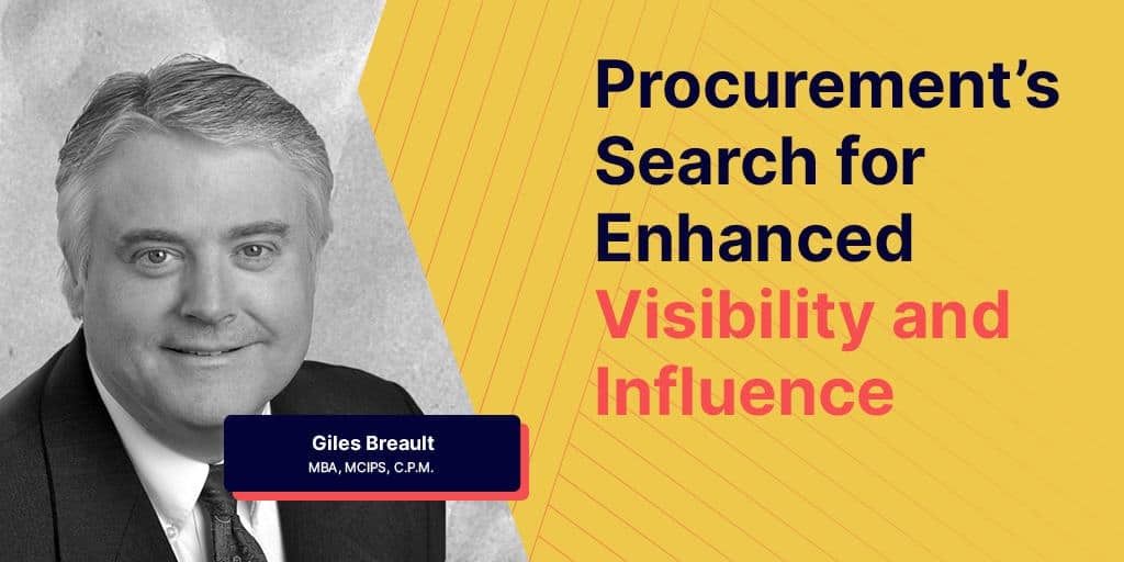 A seat at the table for procurement - A Seat at the table – Procurement's Search for Enhanced Visibility and Influence