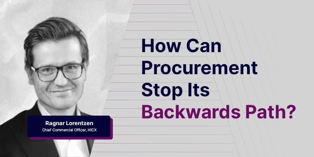 How can Procurement stop its backwards path - How can Procurement stop its backwards path?