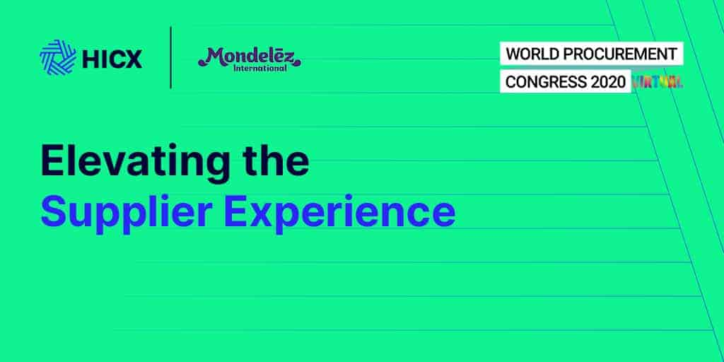 How Mondelez Are Elevating the Supplier Experience