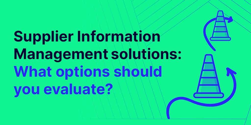 supplier information management solutions