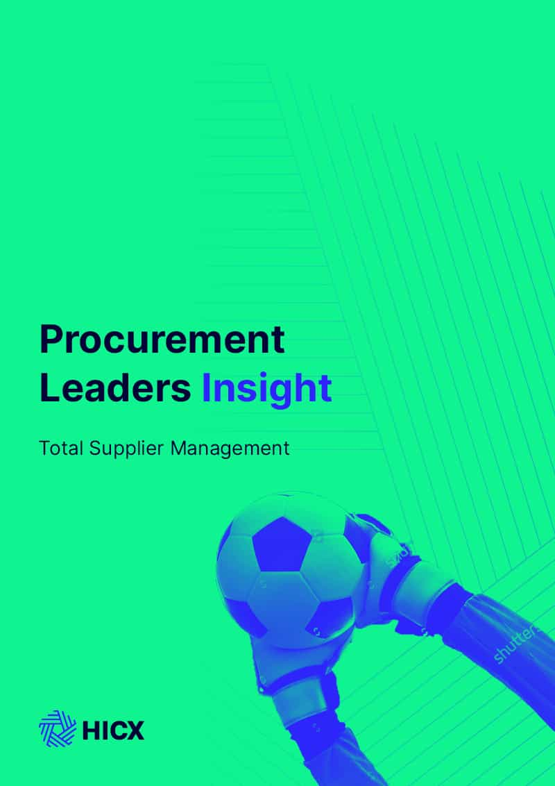 Procurement Leaders Insight - Total Supplier Management