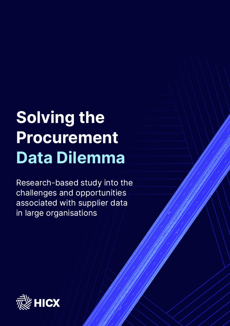 Solving The Procurement Data Dilemma