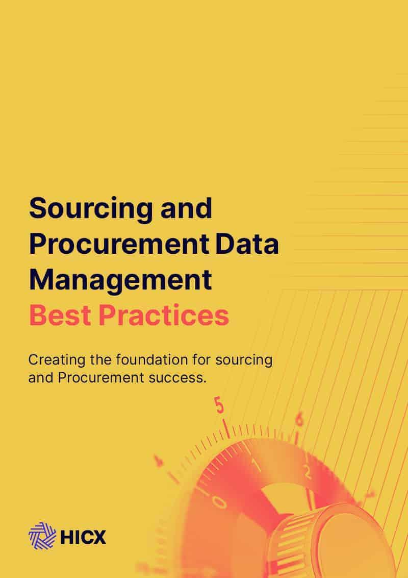 Sourcing and Procurement Data Management Best Practices