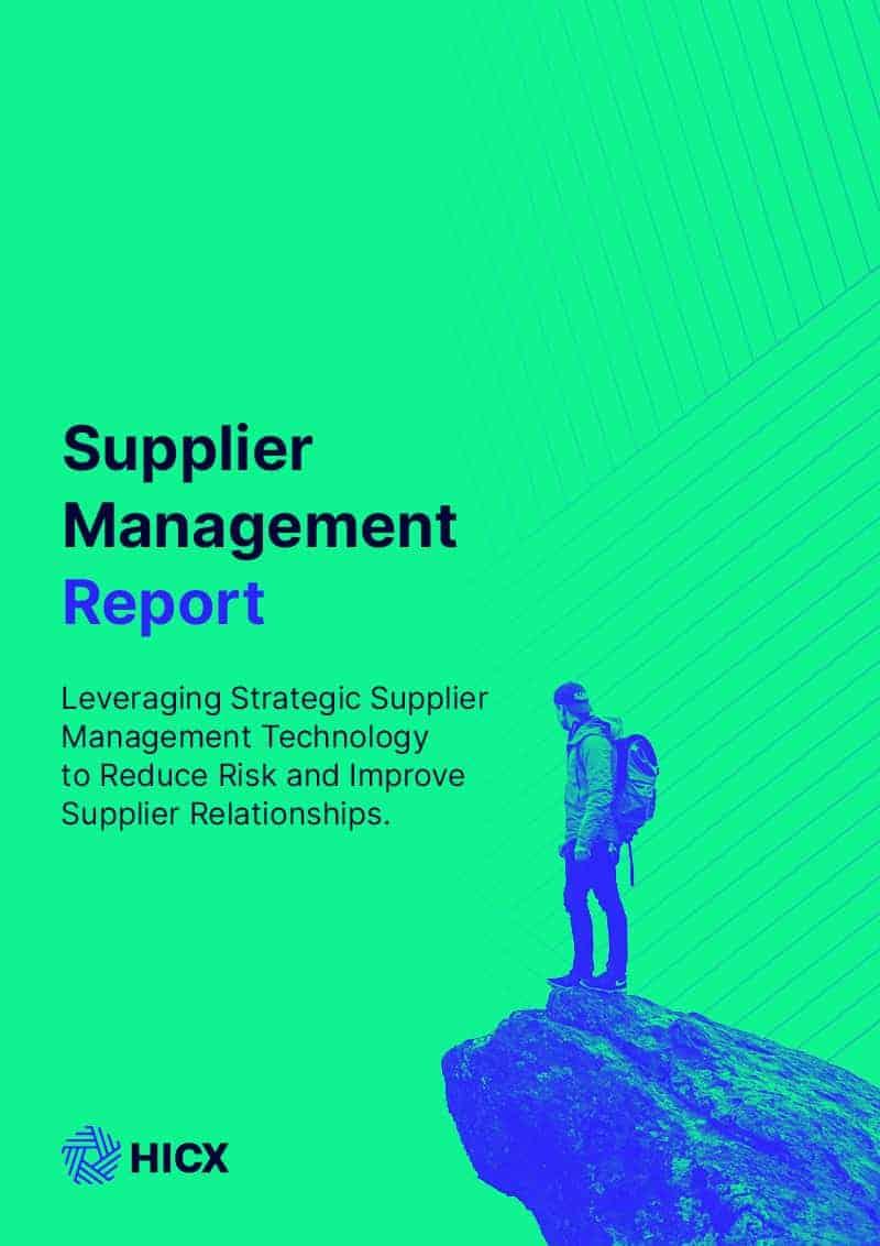 Supplier Management Report