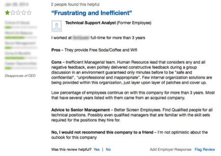 Screenshot 3 of comapny reviews