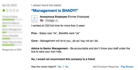 Screenshot 4 of company reviews