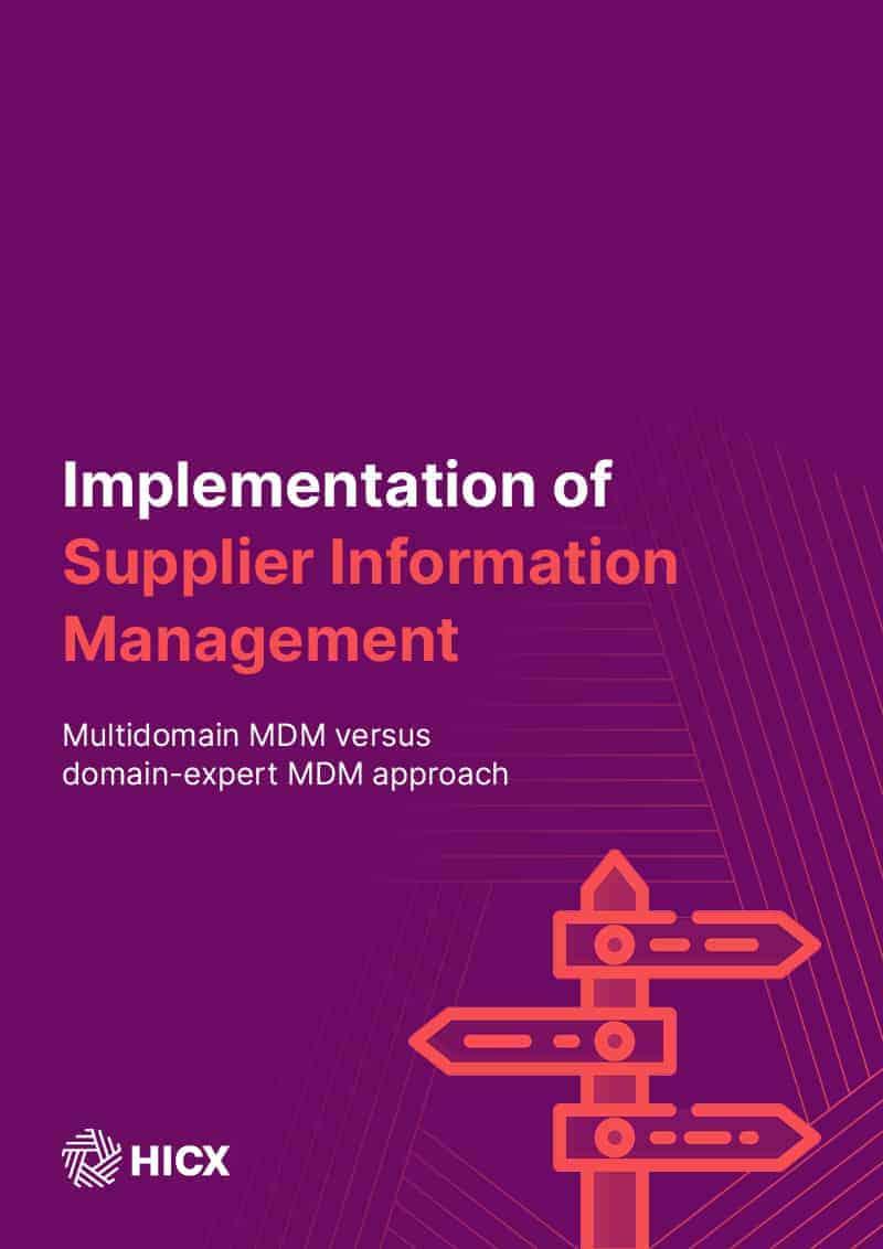 multidomain mdm - Multidomain MDM versus domain-expert MDM approach