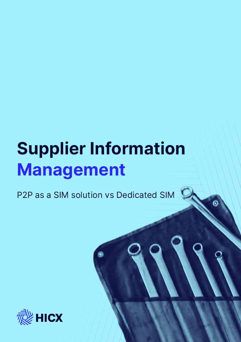 Risks of Using P2P for Supplier Information Management