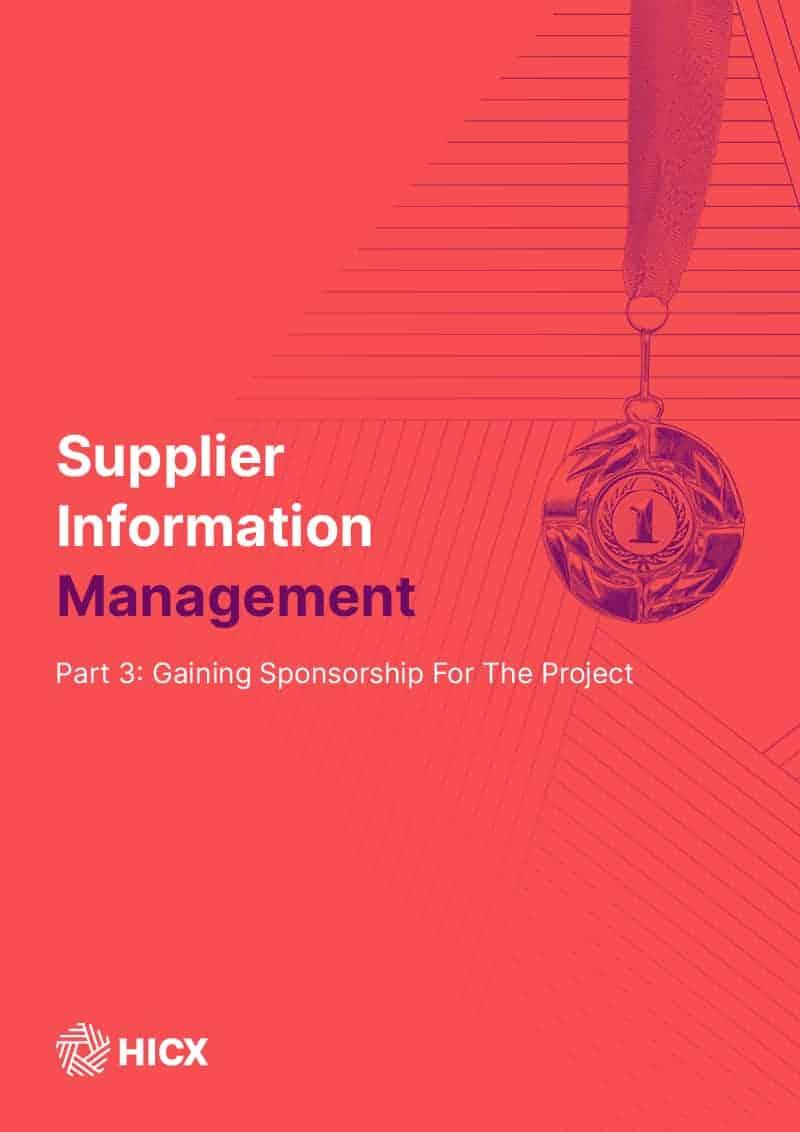 Supplier Master Data Management – Part 3 – Gain Sponsorship