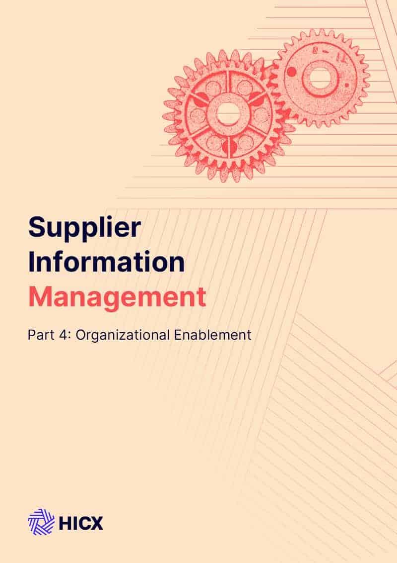 Supplier Master Data Management – Part 4 - Enablement