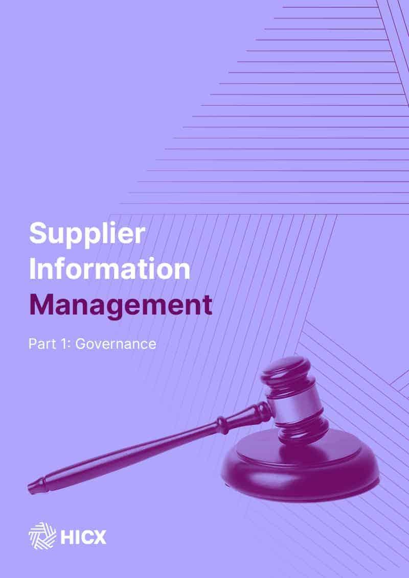 Supplier Master Data Management - Part 1 - Governance