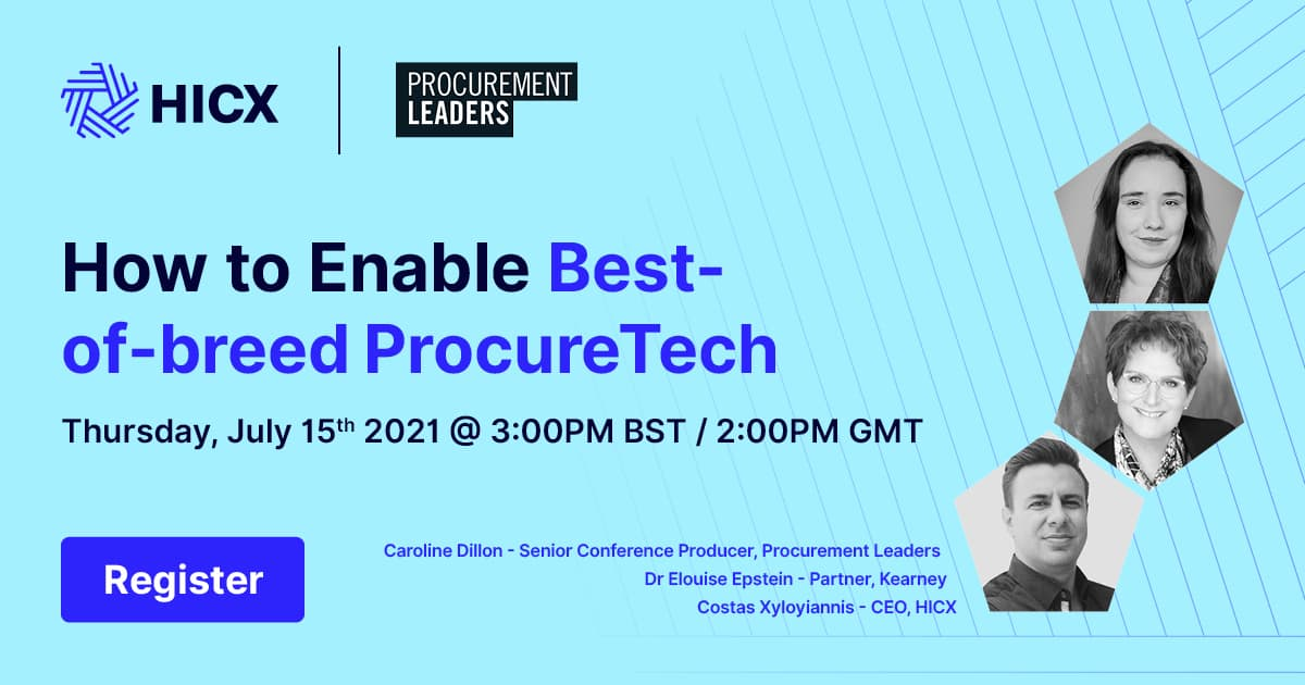 Procurement Leaders - How to enable best of breed ProcureTech_1