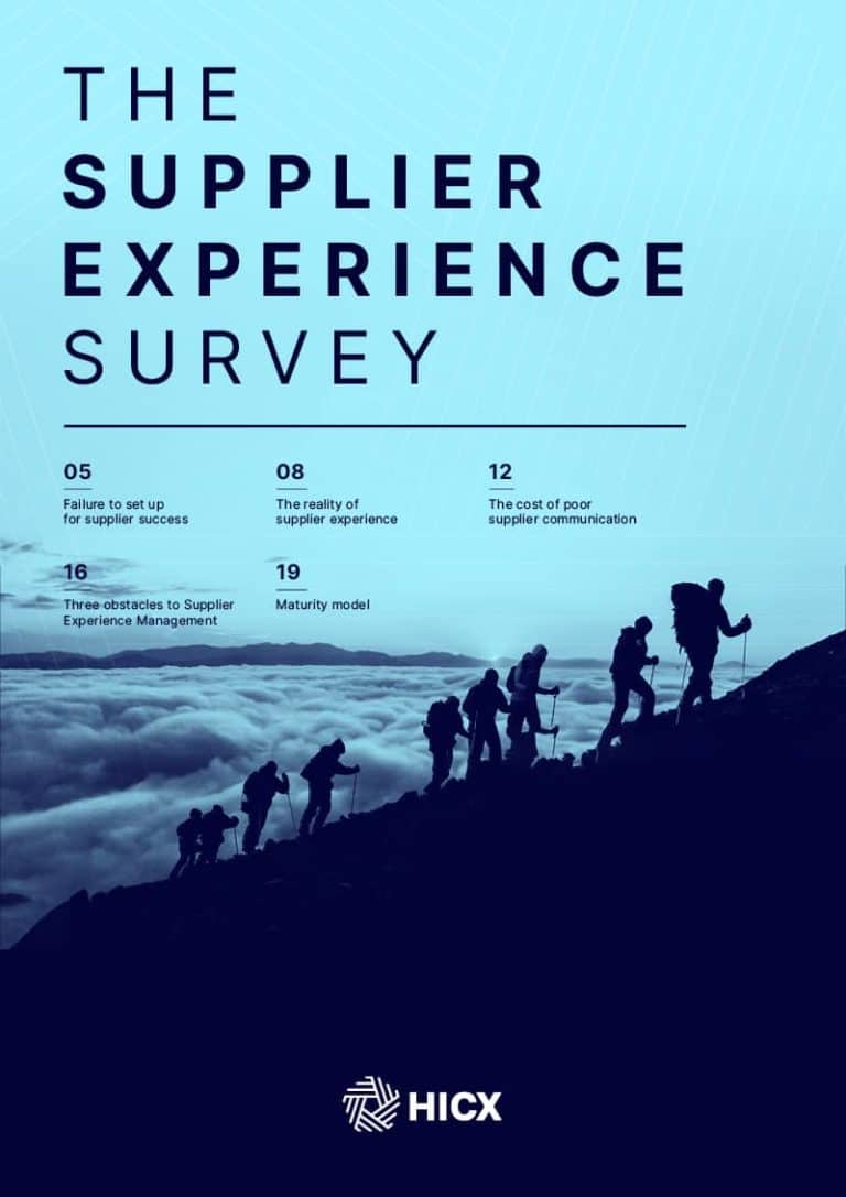 Supplier Experience Survey 2021 Cover