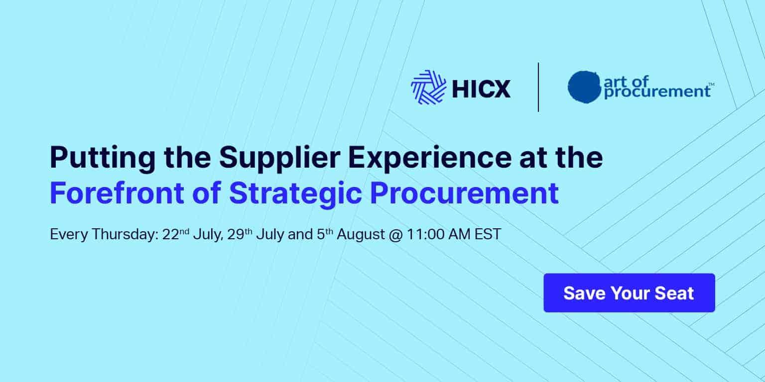 Strategic Procurement - Putting the Supplier Experience at the Forefront of Strategic Procurement