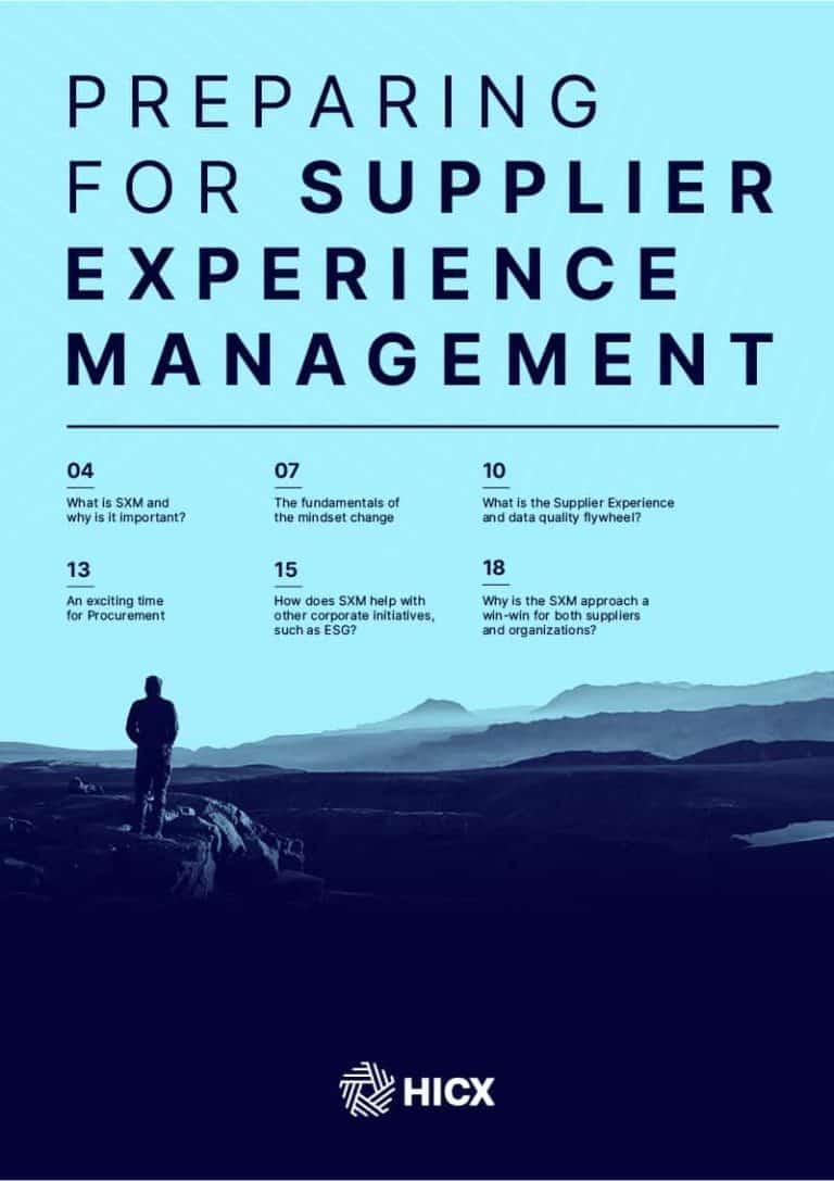 Preparing for Supplier Experience Management (SXM)